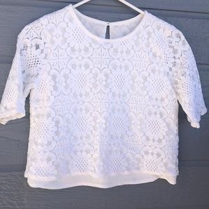 Abercrombie & Fitch women's lacy crop top